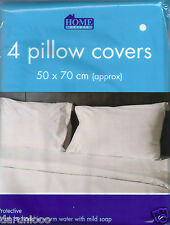 4 PACK PILLOW PROTECTORS ANTI ALLERGY GUARD DUST MITE PROOF STANDARD SIZE HOTEL