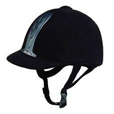 NEW ** HARRY HALL ** BLACK JUNIOR LEGEND RIDING HAT 6 3/4 (55CM) CHILDS  HELMET