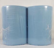2x Putzrollen 36 x 36cm Papier-Rolle blau Putzpapier 1000 Blatt 3 Lagig