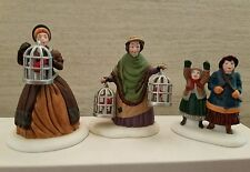 Dept 56 Dickens Village Bird Seller Accessory 3 pc set Retired MIB NOS 56-58033
