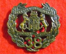 38th Infantry Battalion (The Bendigo Regiment) - Oxidised Hat Badge - 1930 to 42
