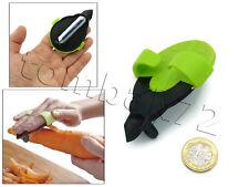 Easy Quick Slide On FINGER Palm Vegetable Veggie PEELER Stainless Steel Blade