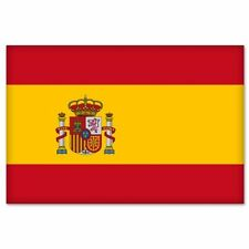 Spanish Flag Spain car bumper sticker decal  2.5""
