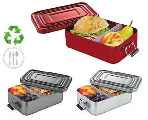 Lunchbox Brotbox Brotzeit Aluminium Trennsteg Auslaufsicher Dose Vesperbox Box