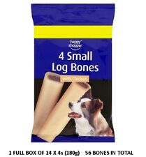 4 Small Log Bones With Chicken 180g = 56 Bones in Box Pet Food For Dogs 14 X 4S