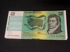 Two Dollars $2 Bundle of 100 banknotes 1985 R89L Johnston Fraser Last Prefix LQG