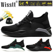 Men's Work Boots Safety Shoes Steel Toe Cap Midsole Sports Sneakers Lightweight