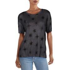 Rails Womens Davie Gray Star Comfy Tee T-Shirt Top L BHFO 6086