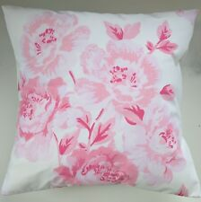 """CLEARANCE Shabby Chic Cushion Cover in Cath Kidston Peony Blossom Pink 16"""""""