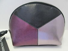 Black Pewter Purple Metallic Cosmetic Case by Steve Madden. NWT