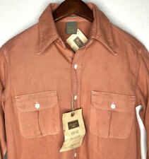 NEW Dickies 1922 Heritage Selvedge Cotton Button Front Shirt Sz 14.5 Small RARE!