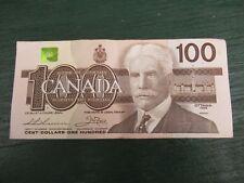 Canadian $100 Dollar Bank Note Bill BJG4242937 Circulated 1988 Canada