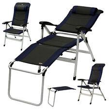 Art.30004 YACCU ALU Campingstuhl Hochlehner Relaxliege Camping Stuhl Beinablage