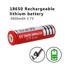 4x 18650 4200mAh 3.7V Li-ion Rechargeable Battery for LED Flashlight