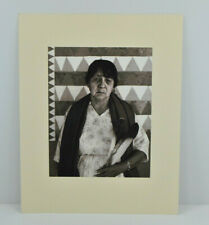 """Signed Chuck Henningsen 1980 Photo 'Eagle Feather Woman' 10"""" X 13"""""""