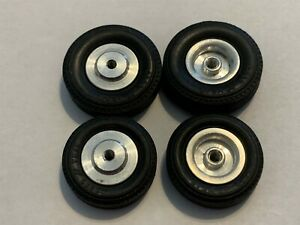 1/24 Revell front&rear Goodyear slot car tires & deep dish wheels LOOSE VINTAGE