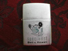 Zippo Lighter 1967 Advertising Bell & Howell Specialist Movie Projectors