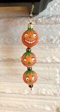 Patricia Breen Kinetic Icicle Kinetic Pumpkinheads Pumpkin Ornament 2003