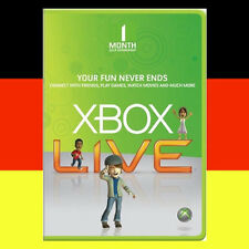 Xbox One 360 Live Gold 1 Monate Mitgliedschaft Karte 1 Month Card Code Per Email