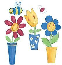 Wallies Wallpaper Cutouts Silly Flower Pots