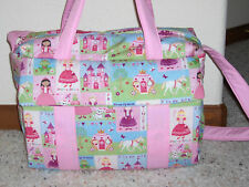 Princess custom handmade Diaper Bag w/changing pad by EMIJANE free embroidery