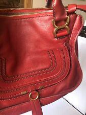 Stunning Chloe Vermillion Red Medium Marcie Bag