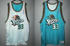 DETROIT PISTONS #33 HILL BASKETBALL JERSEY RARE VINTAGE NBA REVERSIBLE CHAMPION