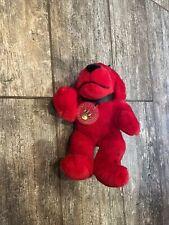 "Clifford The Big Red Dog Plush With Dog Collar  Scholastic Sidekicks 7"""