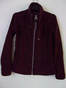 New Ladies Regatta Burgundy Zaylee Full Zip Mid Weight Fleece Size: UK 8 RRP:£25