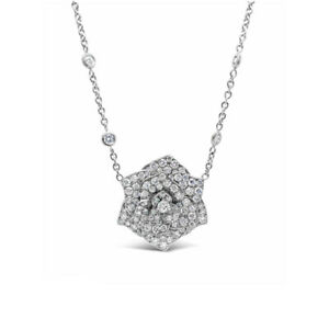 Piaget Rose 18k White Gold and Diamond Necklace