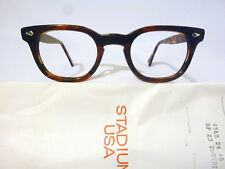 Vintage American Optical Arnel Style Hybrid in Amber with Spear Shields 46-24