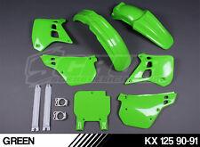 Plastics kit Kawasaki KX 125 1990-1991 MX motocross RARE '90-'91 SCRUB