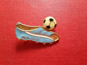 Vintage Football Enamel Badge Manchester City Football Boot