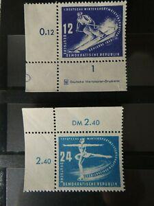 2 Marken DDR 1950 MiNr. 246 und 247 postfrisch