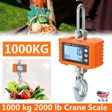 Crane Scale 1000 Kg 2000lb Digital Industrial Hanging Weight Scale Lcd Display O