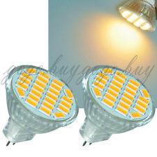 2 x Bright 5730 SMD MR11 GU4 LED Spot Light Bulb Lamp 12V 3W 24 LED Warm White