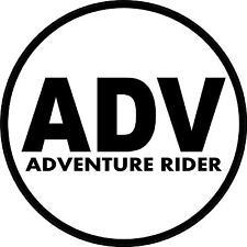 #933 (1) Adventure Rider KLR R1200GS Tool Tube Mega Tube Megatube Decal Gas