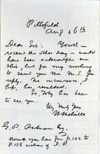 HERMAN MELVILLE Signed Letter - Author Writer / MOBY DICK - preprint