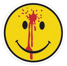 SMILIE FACE  HAVE A GREAT DAY LAMINATED VINYL ADHESIVE STICKER 94MM IN DIA