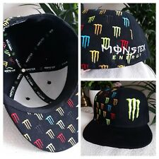 Monster Energy Wool Blend ''M'' Claw Fitted Baseball Hat Cap Sz 7 3/8 COLORFUL