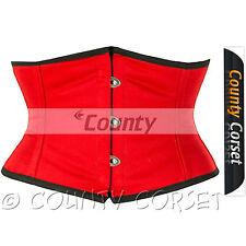 Shaper Cincher MINI Vestaglia Completo In acciaio steccato waistbust SEXY Rosso Corsetto COTONE