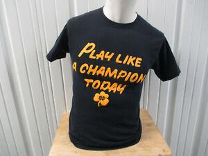 VINTAGE CHAMPION NOTRE DAME FIGHTING IRISH SMALL T-SHIRT PLAY LIKE A CHAMPION TO