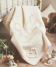 Crochet Pattern ~ BABY ROCKING HORSE CARRIAGE BLANKET Afghan ~ Instructions
