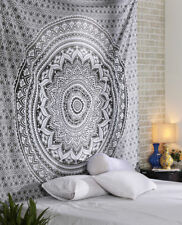 Indian Gray Ombre Mandala Wall Hanging Bohemian Cotton Bedding Bedspread Throw