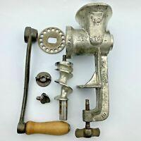 Vtg Manual Hand Crank Meat Grinder Keystone Chopper No 10 Cast Iron Parts/Repair