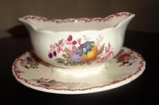 "MASON'S IRONSTONE ENGLAND GRAVY/SAUCE BOAT ""Vintage C4818 Fruit Basket Pattern"""