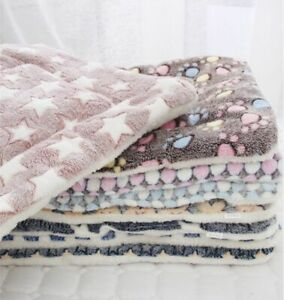 Bed Blanket Dog Cat  Soft Flannel Thick Pet Bed Warm Puppy Sleeping Mat Winter