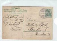 Germany Dresden 1908 to Berlin  postal stationary stamps card R21335
