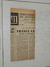 FRANCE FOOTBALL OFFICIEL HEBDOMADAIRE FFF N°404 15/12 1953