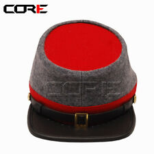 Civil War Confederate Grey with Red top and band Enlisted Artillery  Kepi